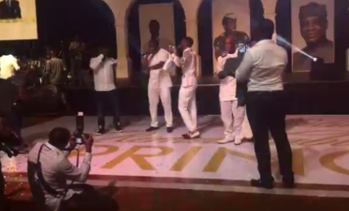 How Don Jazzy, D'banj and Wande Coal reunites for Segun Oniru