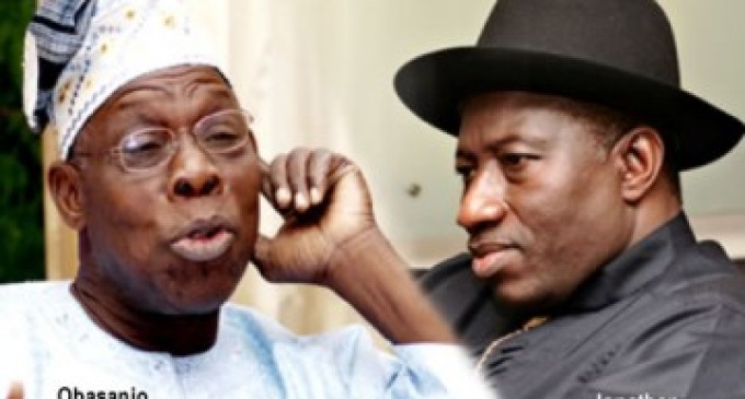 President Jonathan goes for broke against Obasanjo
