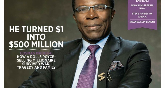 Cosmas Maduka, Peace Hyde feature in cover shoot for Forbes Africa