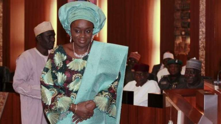 kemi adeosun at her swearing in as Nigeria Minister of finance