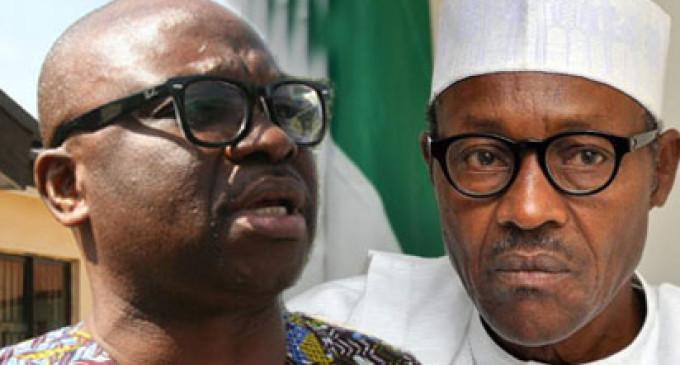 Buhari running government of terror, says Fayose