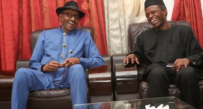 Osinbajo visits Buhari in London