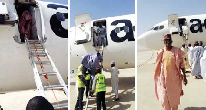 Drama at Bauchi Airport as Aero uses ladder to disembark passengers
