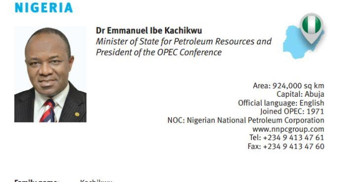 NNPC boss, Kachikwu replaces Alison-Madueke as OPEC president