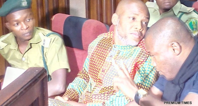 Drama as Nnamdi Kanu Rejects his Own Lawyer