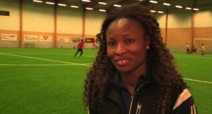 Nigerian football star now coaching migrants in Sweden