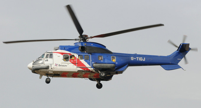 Bristow Helicopter crash lands in Lagos