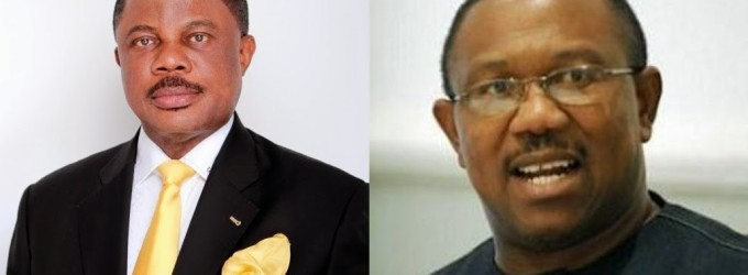 The daggers in their smiles! Willie Obiano and Peter Obi bury the hatchet