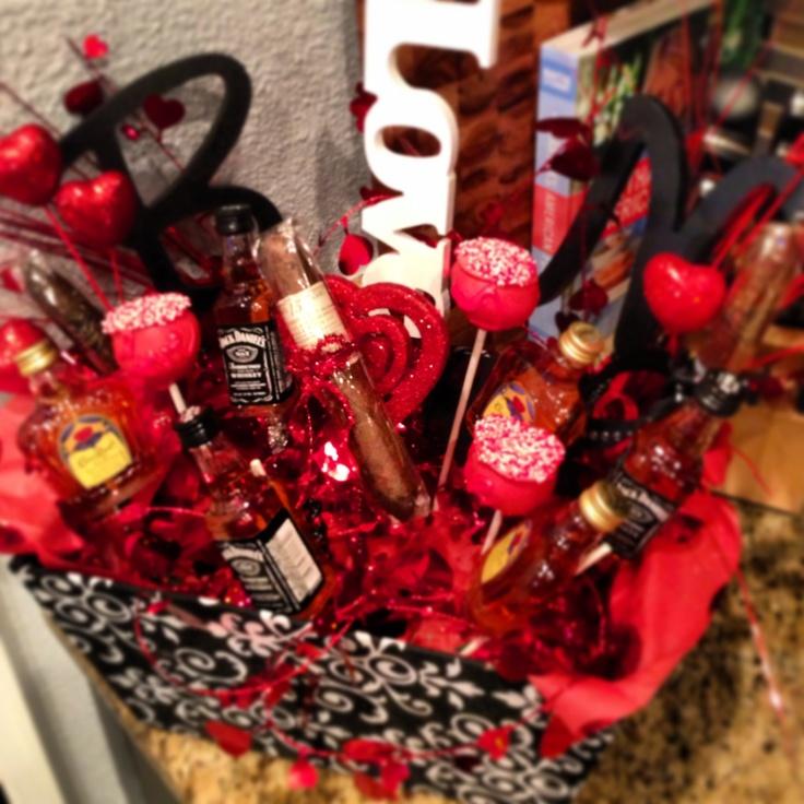 diy valentine gift basket for him gift ideas
