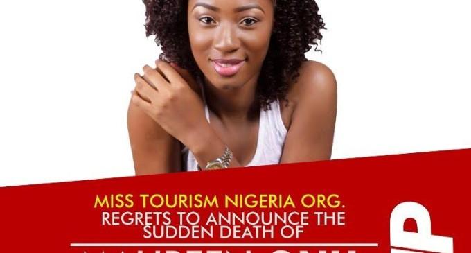 Miss Tourism Nigeria 2016 contestant dies at 20