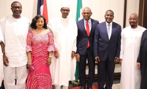 Zenith Bank Chairman, Jim Ovia, Folorunsho Alakija, Femi Otedola, Tony Elumelu, Aliko Dangote Break Fast With President Muhammadu Buhari
