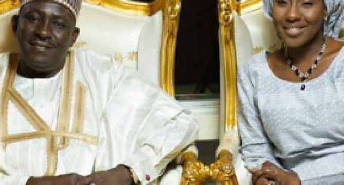 Is This Love ? President Buhari's Daughter Married 57 Year Old Former Bank MD as 4th Wife