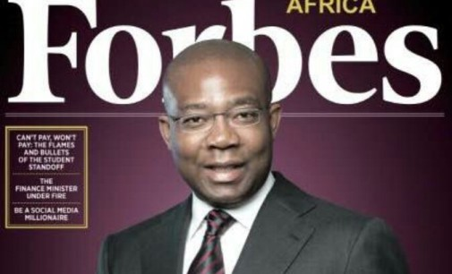 """""""Some call it arrogance, I call it confidence"""", Aig-Imoukhuede covers the November edition of Forbes Africa"""
