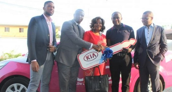 Yudala rewards lucky customer with brand new Kia Rio