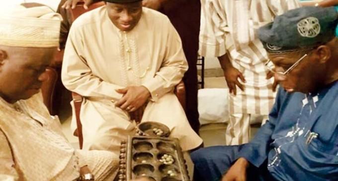 Jonathan visits Obasanjo, holds close door meeting