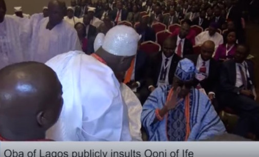 Royal rumble! Oba of Lagos, Akiolu disgraces Ooni of Ife, Ogunwusi publicly