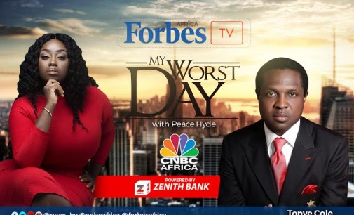 Sahara Group head Tonye Cole reveals how going bankrupt made him a better entrepreneur on Forbes Africa TV My Worst Day with Peace Hyde