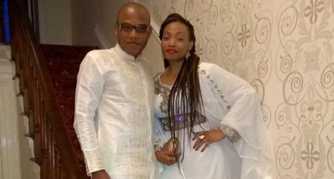 For better, or worse…Biafra leader, Nnamdi Kanu's wife Uchechi storms Nigeria from London