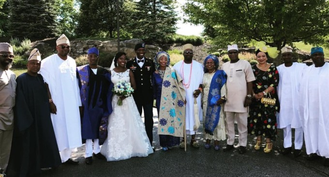 Destination wedding…Lagos Commissioner of Police, Fatai Owoseni throws  classy wedding for daughter in America.