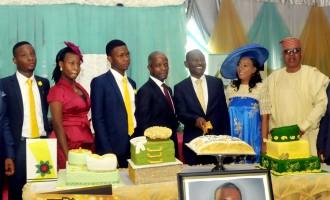 PHOTO: Acting President Prof. Yemi Osibajo and Sen. Ashafa attends Pastor Aina Salami birthday in Lagos