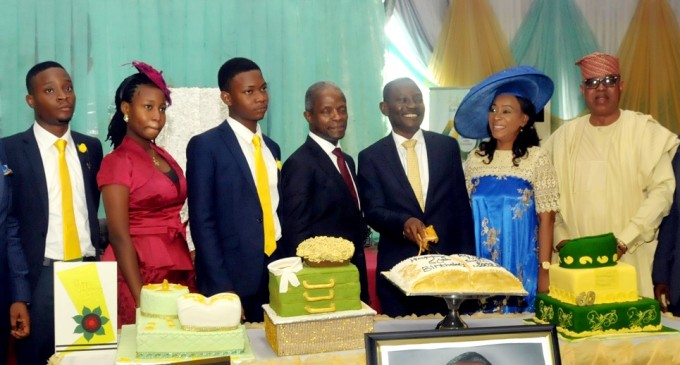 PHOTO: Acting President Prof. Yemi Osibajo and Sen. Ashafa attends Pastor Aina Salami birthday in Lagos