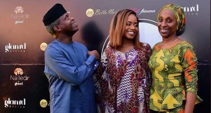 Breaking! Vice President Osinbajo's daughter, Kiki, turns beautician, opens multi-million naira beauty shop