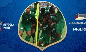 2018 W/Cup: FIFA Congratulates Nigeria