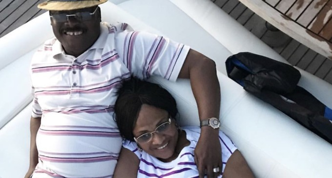 Expensive voyage…See what Abiola Ajimobi was caught doing with wife on a luxury yacht