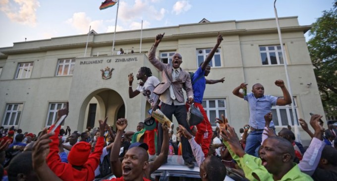 Jubilation as Mugabe resigns after 37 years in power