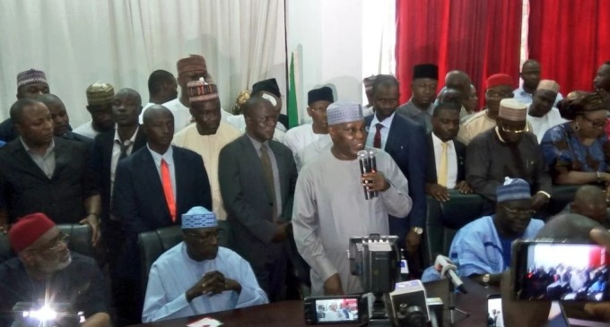 Atiku arrives PDP headquarters