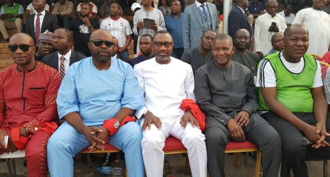 Billionaires On The Football Pitch…See How Dangote, Otedola, Others Converged on Abuja's Green Pitch For Dogara @ 50