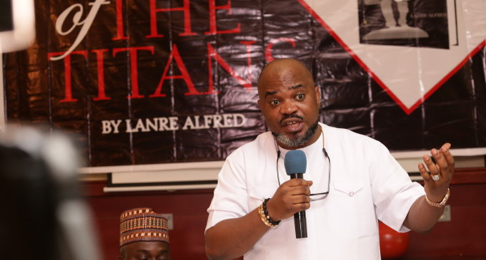 Former Society Editor Of ThisDay Newspaper, Lanre Alfred,Launches New Book,THE TITANS, TodayIn Lagos