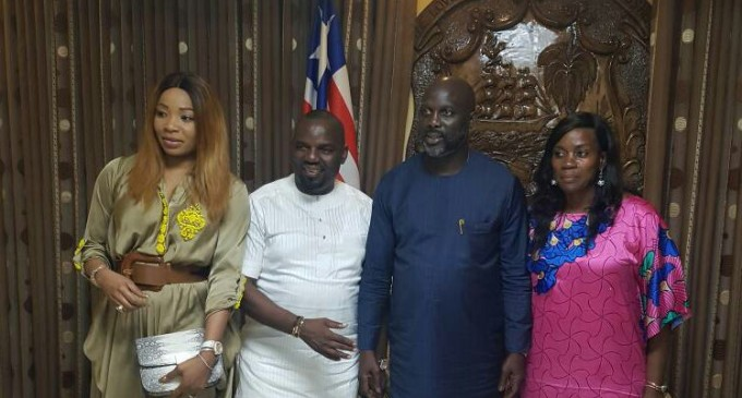 Friends Are Forever…Billionaire Businessman, Julius Rone, Wife, Utibe, Storm Liberia For President George Weah's Inauguration