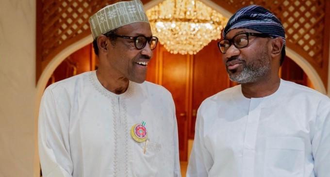 Citizen Of Humanity… When President Buhari Hosted Billionaire Oil magnate, Femi Otedola, To Private Dinner In Aso Rock…