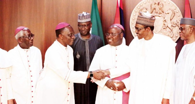 President Buhari, Catholic bishops in frank exchange