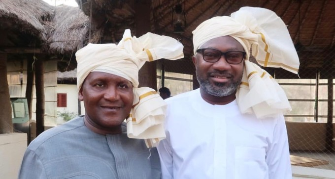 From Lagos To India. . . Aliko Dangote and Femi Otedola's Traditional Headgears (Dupatta) Cause A Stir In India
