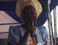Mummy Dearest… Femi Otedola's 86 Year Old Mother, Lady Doja, Campaigns For Ambode