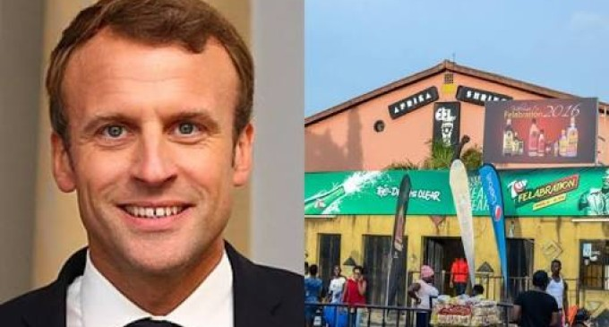 I have memories of Fela Shrine, says French President