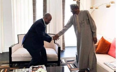 Defection: Akpabio meets Buhari in London
