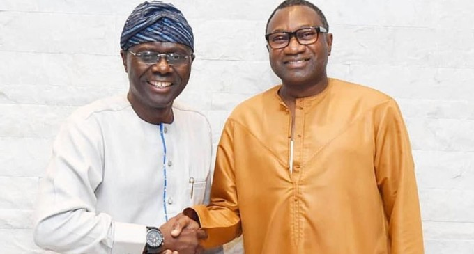 BREAKING: Femi Otedola Endorses Sanwo-Olu