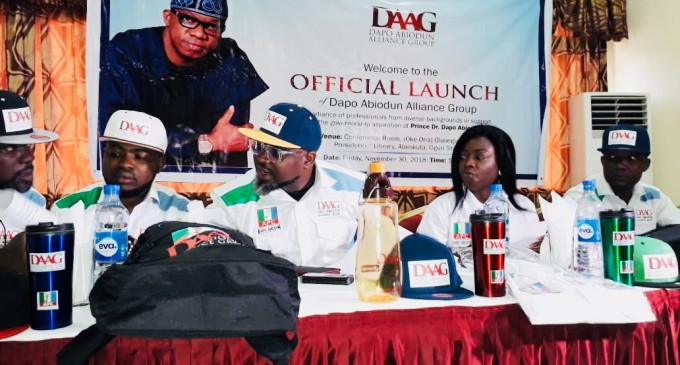 Ogun State 2019: Young Professionals Launch Support Group, DAAG, for Dapo Abiodun