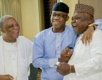 Let There Be Peace! Chief KessingtonAdebutu reconciles Dapo Abiodun, Son, Ladi Adebutu