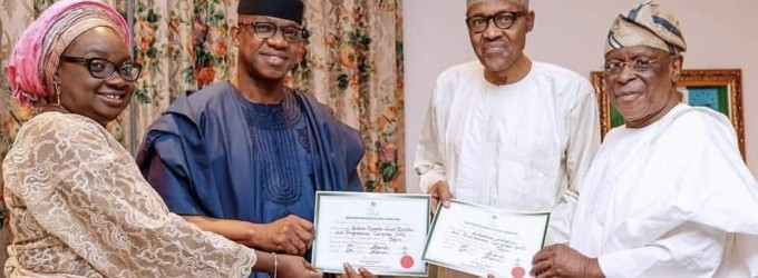 Go, It Shall Be Well With You…See How Buhari, Tinubu, Osinbajo, Others Blessed Dapo Abiodun After Collecting Certificate Of Return