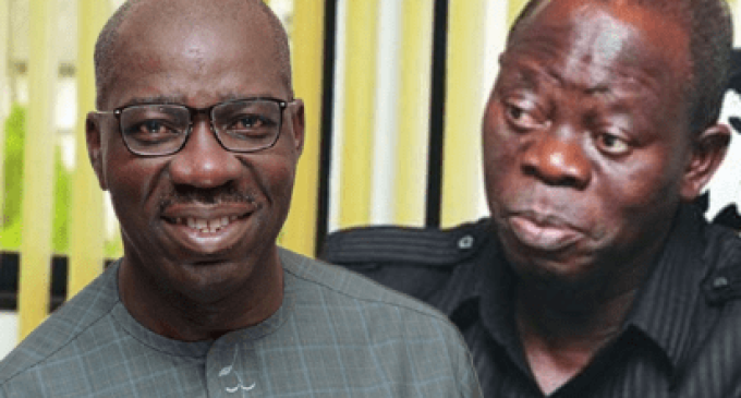 BREAKING: Obaseki, Oshiomhole's Feud Stalls Proclamation Of 7th Assembly