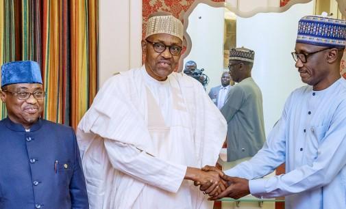 Buhari Bids Farewell To Baru, Meets New NNPC Boss, Kyari