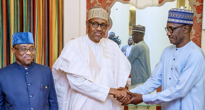 Buhari Bids Farewell To Baru, Meets New NNPC Boss, Kyari