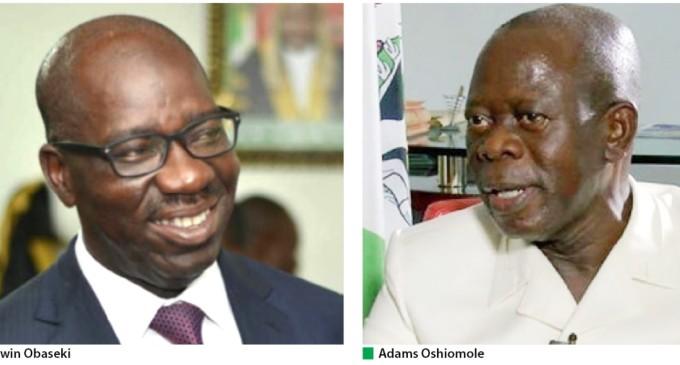 New Twist in Edo Saga as Obaseki pays Oshiomole, Otaru of Auchi Surprise Visit in Celebration of Eid-al-Adha.