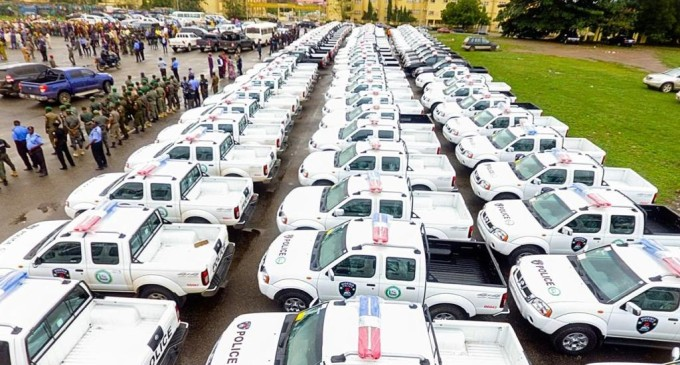 Dapo Abiodun Again! Ogun Governor Donates 100 Patrol Vehicles, 200 Bikes To Police