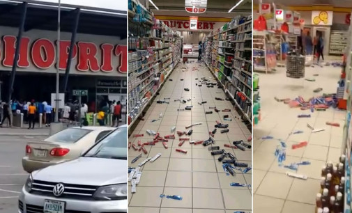 Hoodlums Attacks ShopRite, Lekki