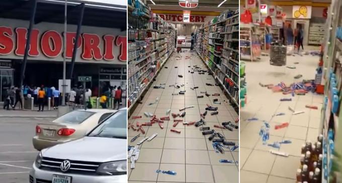 Hoodlums Attacks ShopRite, Lekki